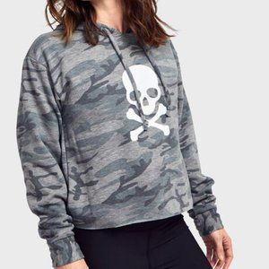 NWOT SoulCycle Camo Cropped Hoodie
